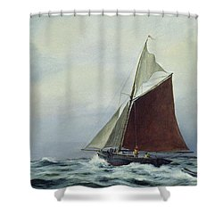 Making Sail After A Blow Shower Curtain by Vic Trevett