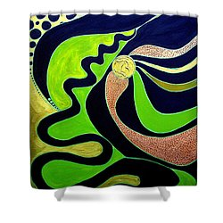 Making Waves.. Shower Curtain by Jolanta Anna Karolska