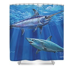 Mako Sword Off0024 Shower Curtain by Carey Chen