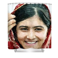 Malala Yousafzai Portrait Shower Curtain