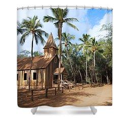 Malamalama Church Shower Curtain by Jenna Szerlag