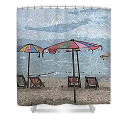 Malazy Day At The Beach Shower Curtain