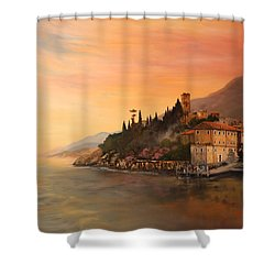 Malcesine Lake Garda Italy Shower Curtain by Jean Walker