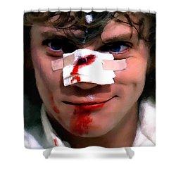 Malcolm Mcdowell As Alex In The Film Clockwork Orange By Stanley Kubrick 1971 Shower Curtain