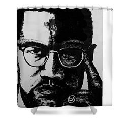 Malcom X Shower Curtain