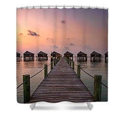 Maldives Sunrise Shower Curtain
