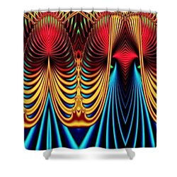 Shower Curtain featuring the mixed media Male And Female by Rafael Salazar