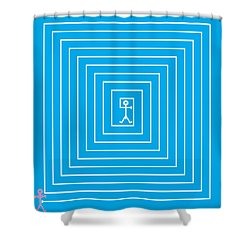 Male Maze Icon Shower Curtain by Thisisnotme