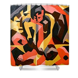 Male Nude Shower Curtain