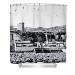 Malibu Beach House - 1960 Shower Curtain by Chuck Staley