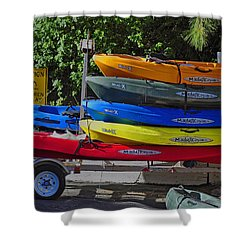 Malibu Kayaks Shower Curtain