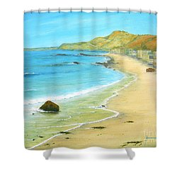 Malibu Road Shower Curtain by Jerome Stumphauzer
