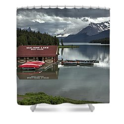 Maligne Lake Jasper Park Shower Curtain