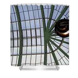 Shower Curtain featuring the photograph Mall Of Emirates Skylight by Andrea Anderegg
