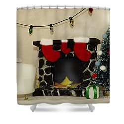 Mallow Christmas Shower Curtain by Heather Applegate