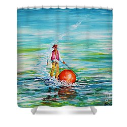 Strolling On The Water Shower Curtain