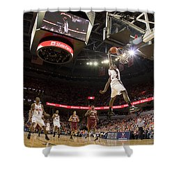 Mamadi Diane Dunk Against Boston College Shower Curtain by Jason O Watson