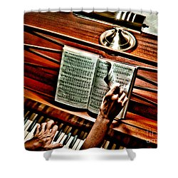 Momma's Hymnal Shower Curtain by Robert Frederick
