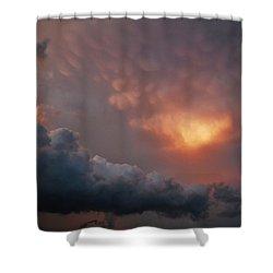 Mammatus At Sunset Shower Curtain by Ed Sweeney