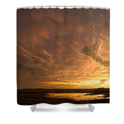Shower Curtain featuring the photograph Mammatus Clouds by Rob Graham