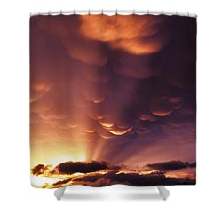 Mammatus Sunset Over Colorado Shower Curtain