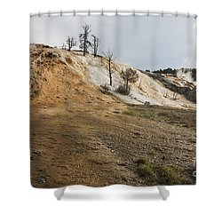 Mammoth Hot Springs Shower Curtain by Belinda Greb