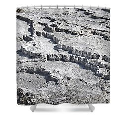 Mammoth Terraces Detail Shower Curtain