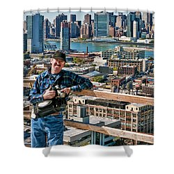 Man At Work Shower Curtain