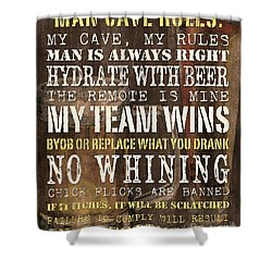 Man Cave Rules 2 Shower Curtain
