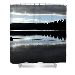 Man Fly Fishing Shower Curtain by Judith Katz