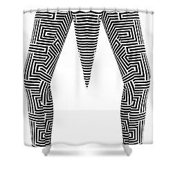 Shower Curtain featuring the painting Man Maze by Rafael Salazar