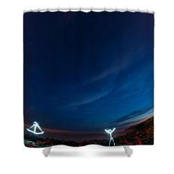 Man Of Light Shower Curtain