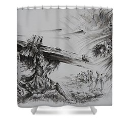Man Of Sorrows Shower Curtain by Rachel Christine Nowicki