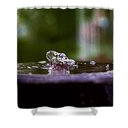 Shower Curtain featuring the photograph Man On The Surface by Mez