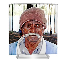 Man With A Mustache Shower Curtain by Ethna Gillespie