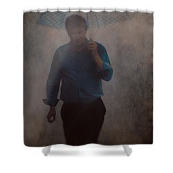 Man With An Umbrella Shower Curtain