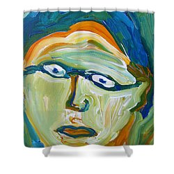 Man With Glasses Shower Curtain