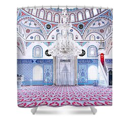Manavgat Mosque Interior 01 Shower Curtain by Antony McAulay