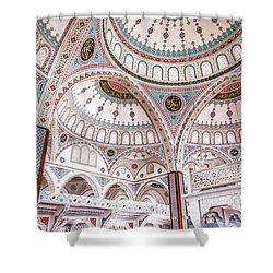 Manavgat Mosque Interior 02 Shower Curtain by Antony McAulay