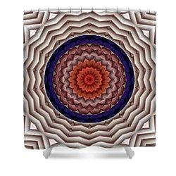 Shower Curtain featuring the digital art Mandala 10 by Terry Reynoldson