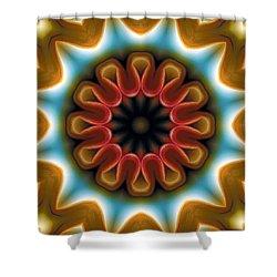 Shower Curtain featuring the digital art Mandala 100 by Terry Reynoldson
