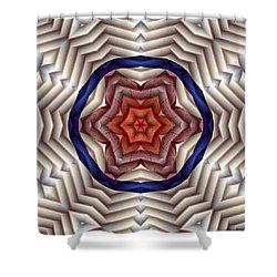 Shower Curtain featuring the digital art Mandala 12 by Terry Reynoldson