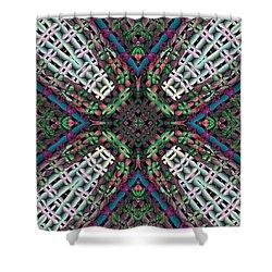 Shower Curtain featuring the digital art Mandala 32 by Terry Reynoldson
