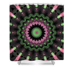 Shower Curtain featuring the digital art Mandala 34 by Terry Reynoldson