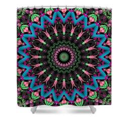 Shower Curtain featuring the digital art Mandala 35 by Terry Reynoldson