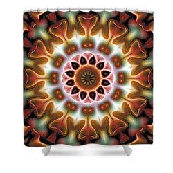 Shower Curtain featuring the digital art Mandala 67 by Terry Reynoldson