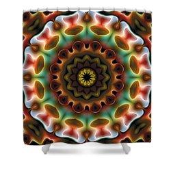 Shower Curtain featuring the digital art Mandala 74 by Terry Reynoldson