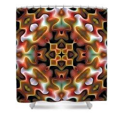 Shower Curtain featuring the digital art Mandala 76 by Terry Reynoldson