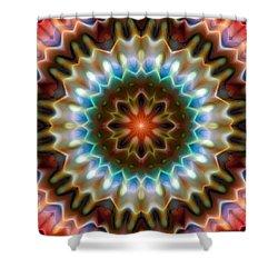 Shower Curtain featuring the digital art Mandala 79 by Terry Reynoldson