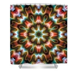 Shower Curtain featuring the digital art Mandala 80 by Terry Reynoldson